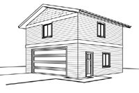 2428-bg Garage Plan