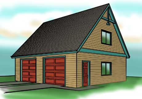 Garage plans with lofts at garageplans123 for 24x24 garage plans with loft